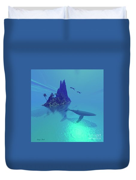 Mystery Island Duvet Cover by Corey Ford