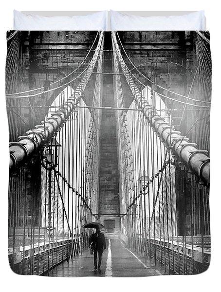 Mystery Manhattan Duvet Cover by Az Jackson