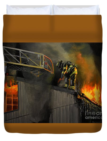 Mystic Fire Duvet Cover by Paul Walsh