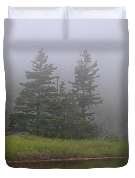 Mystical Acadia National Park Duvet Cover by Juergen Roth