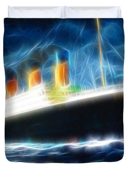 Mystical Titanic Duvet Cover by Paul Van Scott