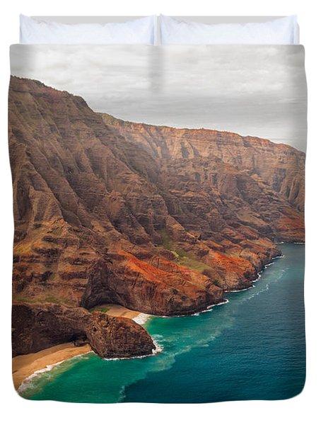 Na Pali Coast 3 Duvet Cover by Brian Harig
