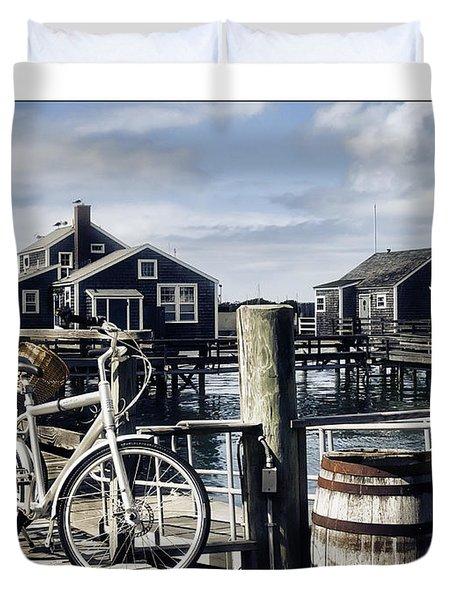 Nantucket Bikes 1 Duvet Cover by Tammy Wetzel