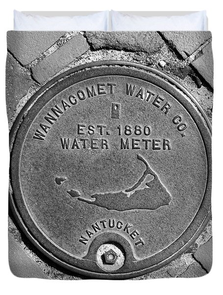 Nantucket Water Meter Cover Duvet Cover by Charles Harden