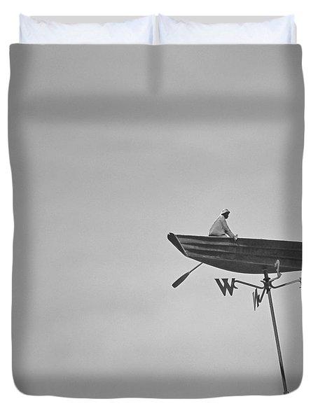 Nantucket Weather Vane Duvet Cover by Charles Harden