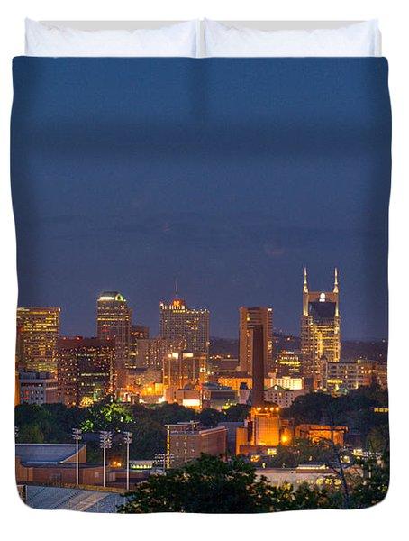Nashville By Night 2 Duvet Cover by Douglas Barnett