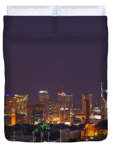 Nashville By Night 3 Duvet Cover by Douglas Barnett