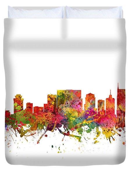 Nashville Cityscape 08 Duvet Cover by Aged Pixel