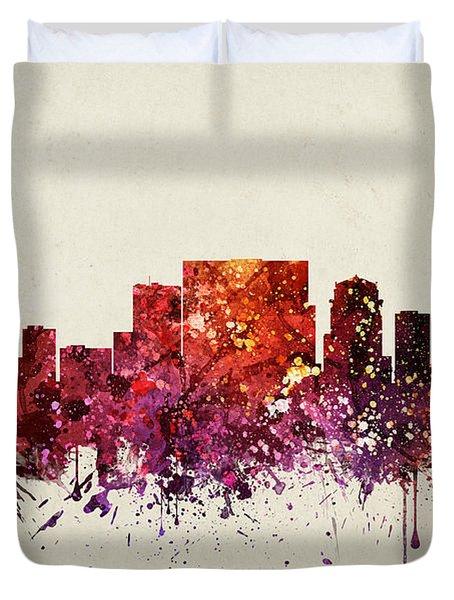 Nashville Cityscape 09 Duvet Cover by Aged Pixel