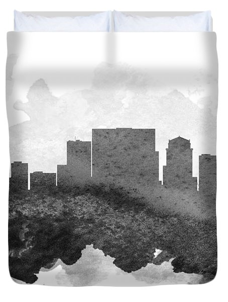 Nashville Cityscape 11 Duvet Cover by Aged Pixel