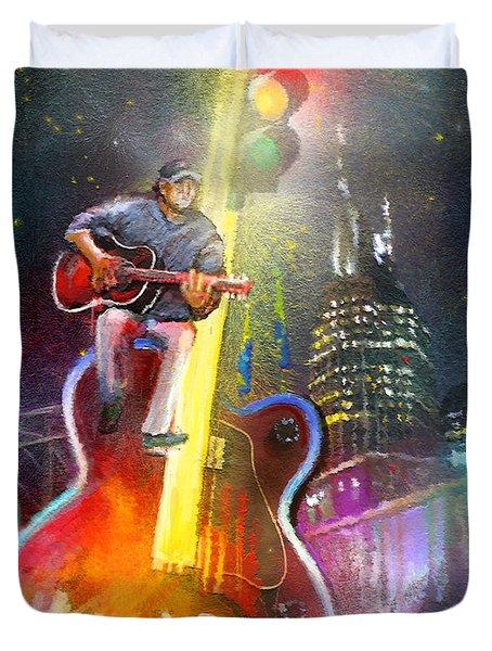 Nashville Nights 01 Duvet Cover by Miki De Goodaboom