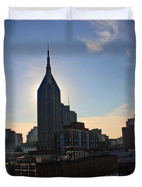Nashville Skyline Duvet Cover by Susanne Van Hulst