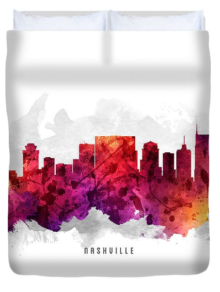 Nashville Tennessee Cityscape 14 Duvet Cover by Aged Pixel