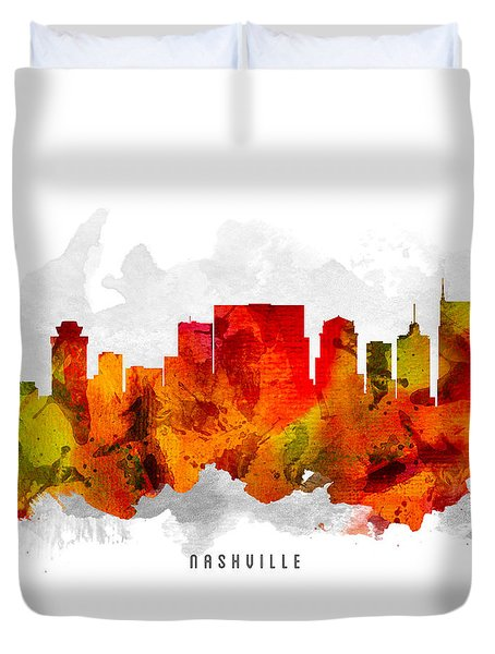 Nashville Tennessee Cityscape 15 Duvet Cover by Aged Pixel