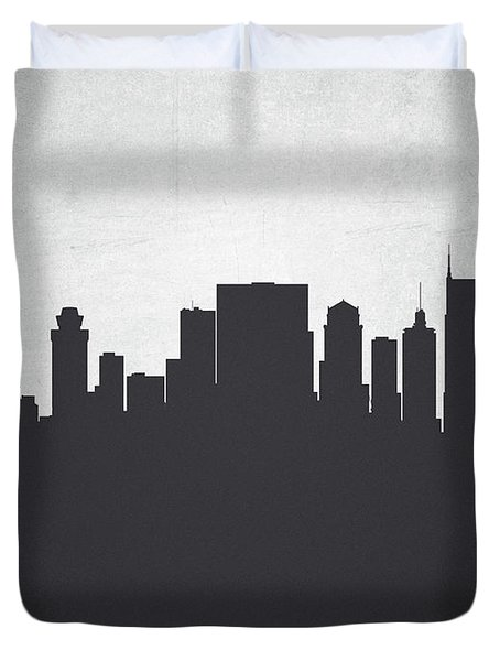 Nashville Tennessee Cityscape 19 Duvet Cover by Aged Pixel