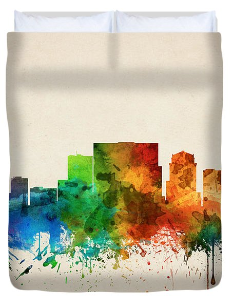 Nashville Tennessee Skyline 05 Duvet Cover by Aged Pixel