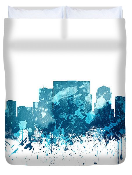 Nashville Tennessee Skyline 19 Duvet Cover by Aged Pixel