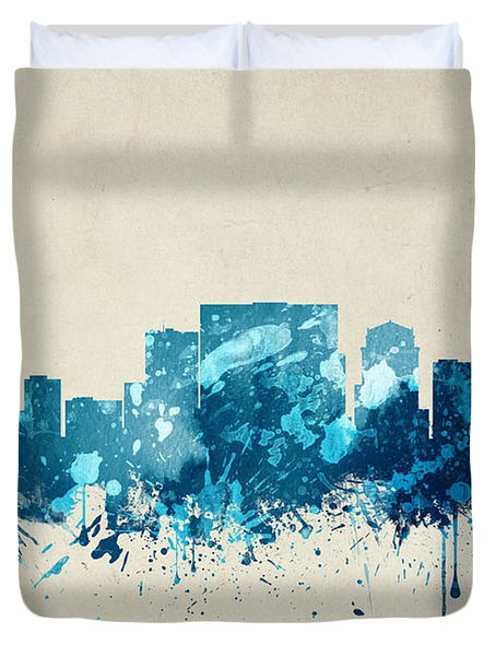 Nashville Tennessee Skyline 20 Duvet Cover by Aged Pixel