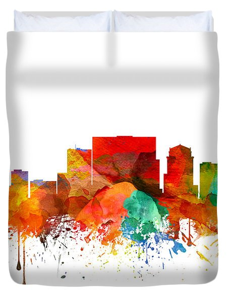 Nashville Tennessee Skyline 21 Duvet Cover by Aged Pixel