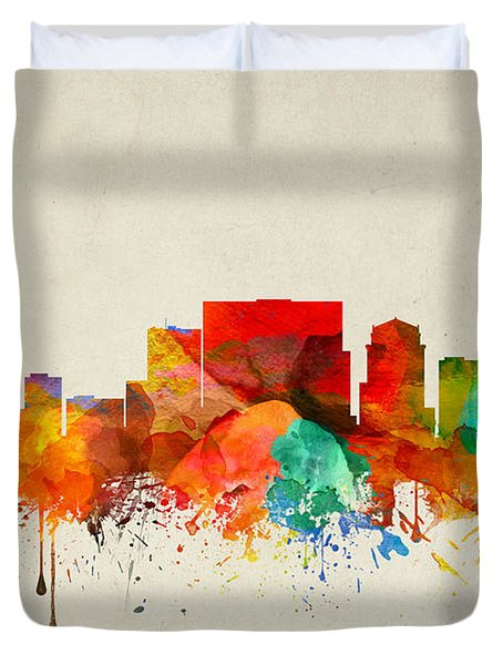 Nashville Tennessee Skyline 22 Duvet Cover by Aged Pixel
