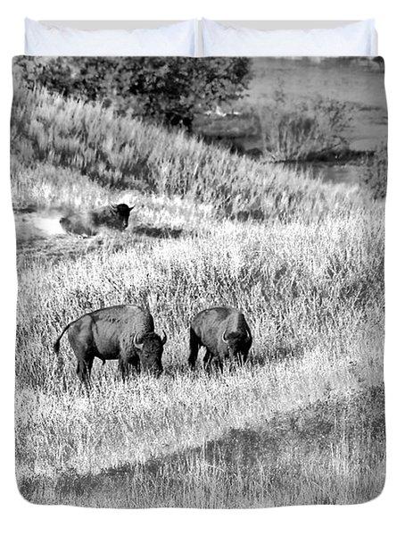 National Bison Range Wildlife Refuge Mt Usa Duvet Cover by Christine Till