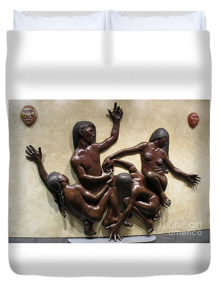 National Museum Of The American Indian 6 Duvet Cover by Randall Weidner