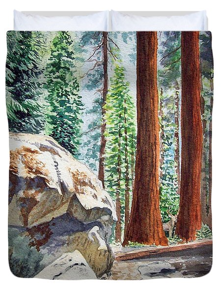 National Park Sequoia Duvet Cover by Irina Sztukowski