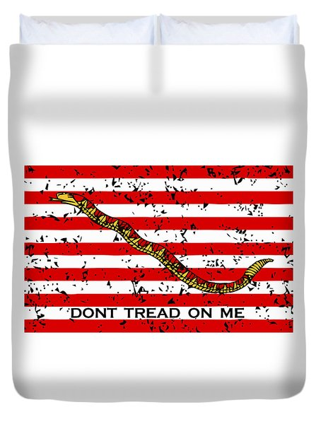 Navy Jack Flag Duvet Cover by War Is Hell Store