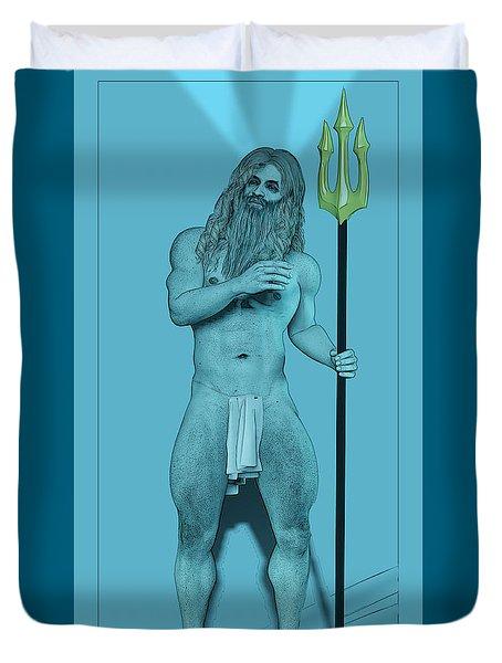 Blue Neptune Duvet Cover by Quim Abella
