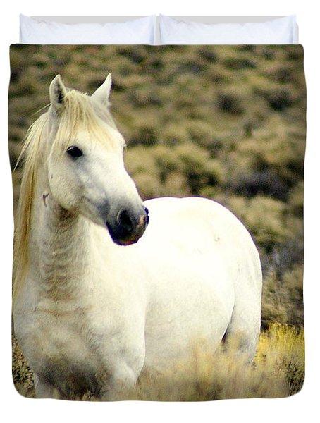 Nevada Wild Horses 3 Duvet Cover by Marty Koch