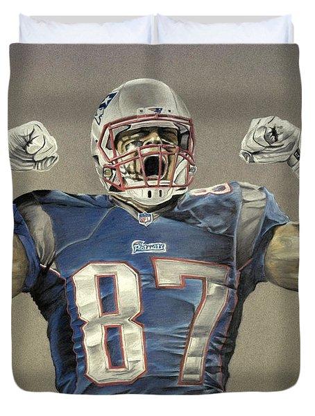 New England Patriots Rob Gronkowski Drawing By Jordan Spector