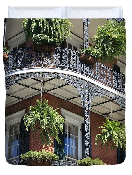 New Orleans Balcony Duvet Cover by Carol Groenen