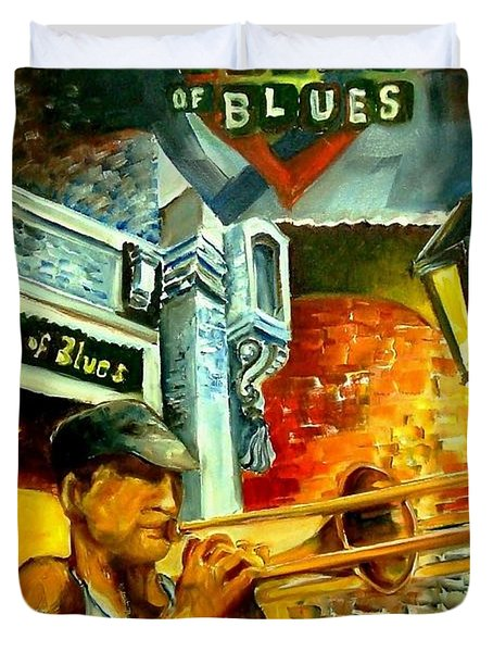 New Orleans' House Of Blues Duvet Cover by Diane Millsap