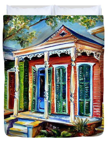 New Orleans Plain And Fancy Duvet Cover by Diane Millsap
