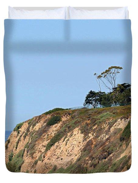 New Santa Barbara Lighthouse - Santa Barbara CA Duvet Cover by Christine Till