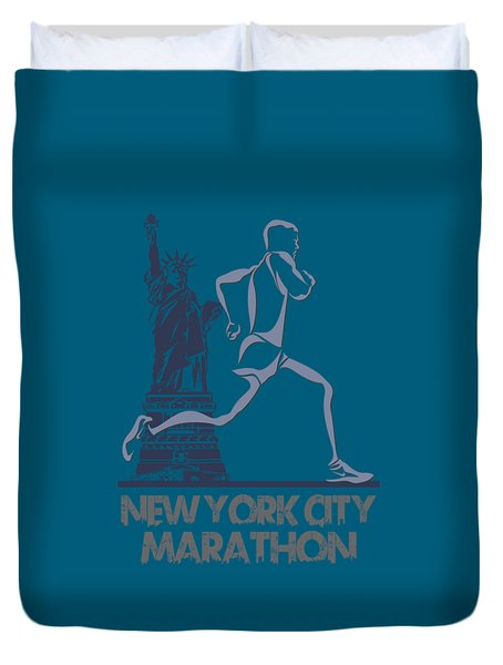 New York City Marathon3 Duvet Cover by Joe Hamilton