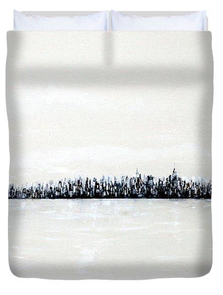 New York City Skyline 48 Duvet Cover by Jack Diamond