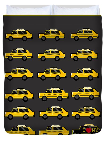 New York City Taxi Duvet Cover by Art Spectrum