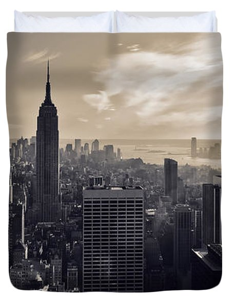 New York Duvet Cover by Dave Bowman