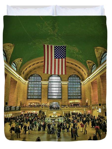New York Minute Duvet Cover by Evelina Kremsdorf