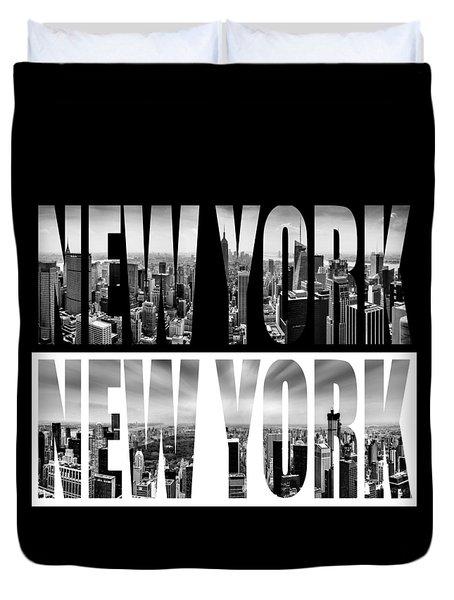 New York New York Duvet Cover by Az Jackson