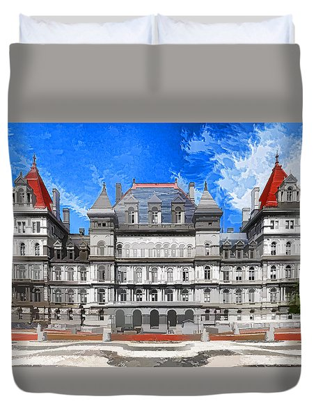 New York State Capitol Duvet Cover by Lanjee Chee
