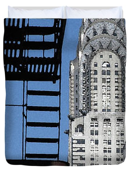 New York Watercolor 3 Duvet Cover by Andrew Fare