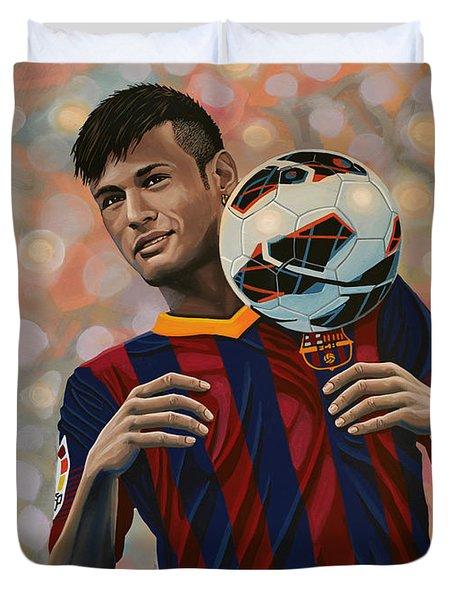 Neymar Duvet Cover by Paul Meijering