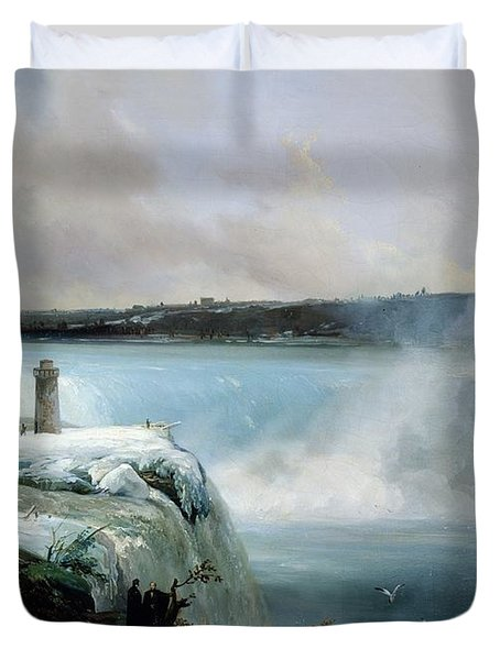 Niagara Falls Duvet Cover by Jean Charles Joseph Remond