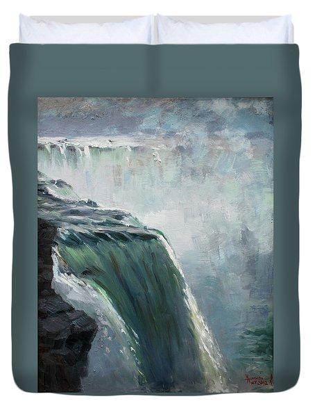 Niagara Falls Ny Duvet Cover by Ylli Haruni