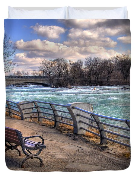 Niagara Rapids In Early Spring Duvet Cover by Tammy Wetzel