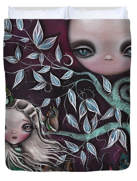 Night Creatures Duvet Cover by  Abril Andrade Griffith