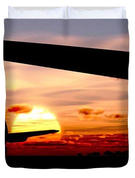 Night Hawks Duvet Cover by Richard Rizzo