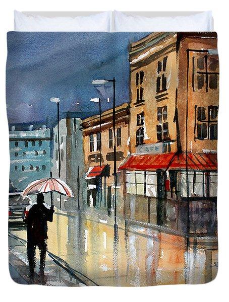 Night Lights Duvet Cover by Ryan Radke